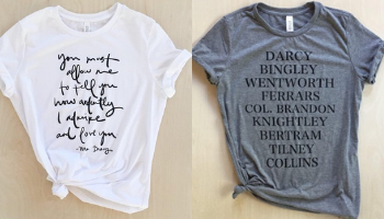 Brookish Jane Austen Tee Shirts from 10 Incredible Bookish Etsy Shops | bookriot.com