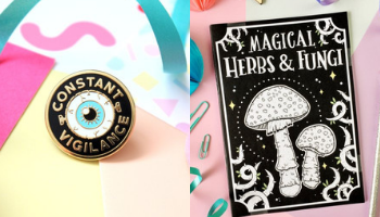 Fable & Black Mad-Eye Moody HP Pin and Harry Potter Notebook from 10 Incredible Bookish Etsy Shops | bookriot.com