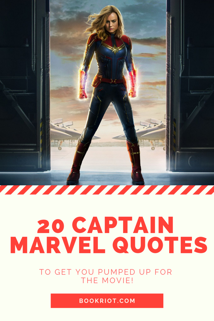 These 20 Captain Marvel Quotes will get you pumped up for the movie. Check 'em out. Captain Marvel | Captain Marvel Quotes | Superhero Quotes | Quote lists | Comics Quotes