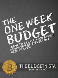 The One Week Budget Book Cover