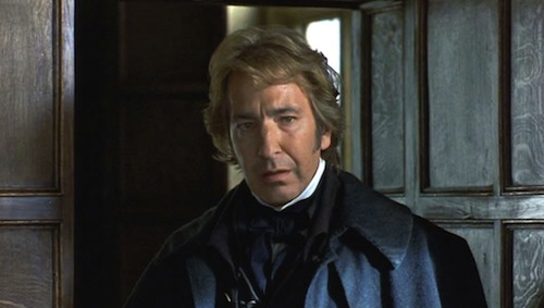 Alan Rickman as Colonel Brandon in the 1995 movie Sense and Sensibility