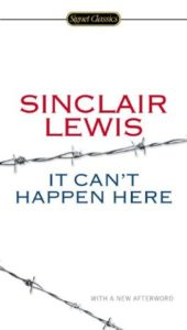 It Can't Happen Here by Sinclair Lewis cover