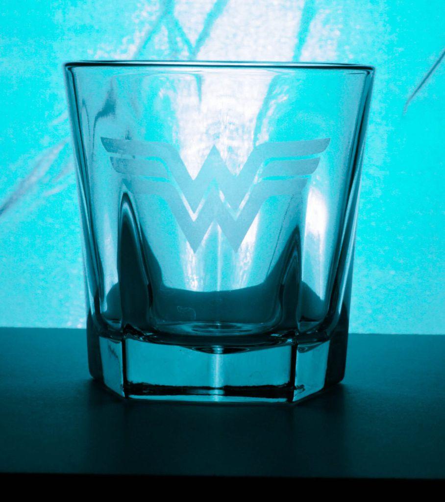 Wonder Woman Whiskey Glass