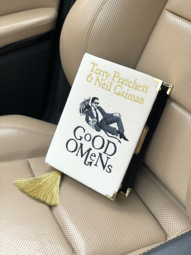 Good Omens gifts-Book Riot-bookish bag