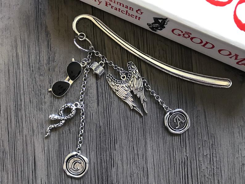Good Omens gifts-Book Riot-Metal Bookmark