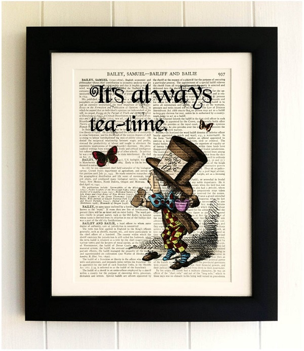 its_always_tea_time_tenniel_hatter_on_vintage_encyclopedia_page