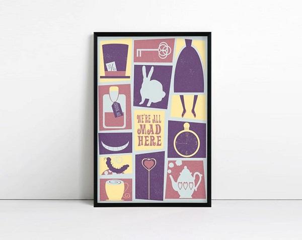 were_all_mad_here_minimalist_artwork