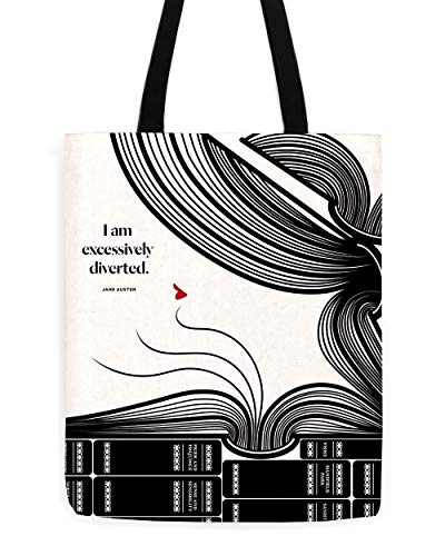 Excessively Diverted Tote, Best Jane Austen Totes, Book Riot