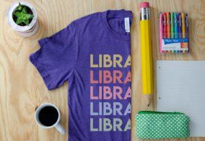 Librarian Rainbow T-Shirt