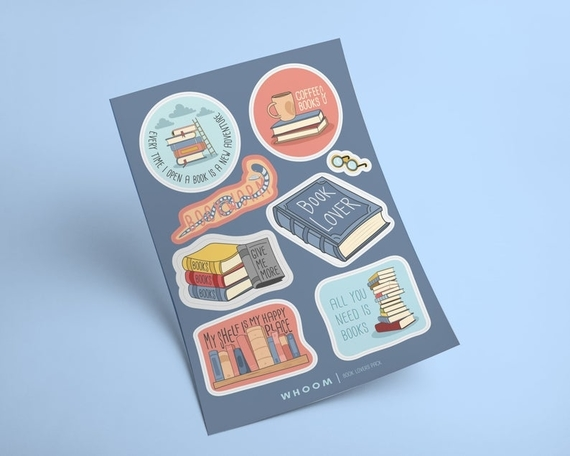 Book Lovers Sticker Pack