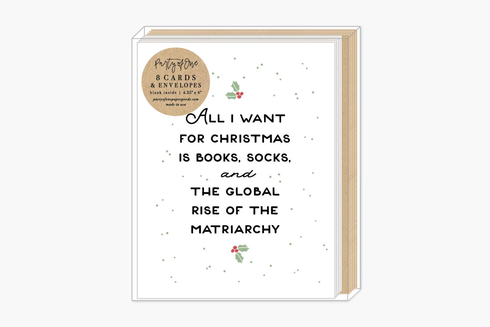 All I want for Christmas is Books card