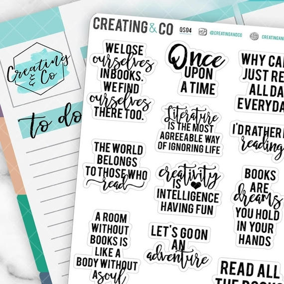 Book Quotes Sticker
