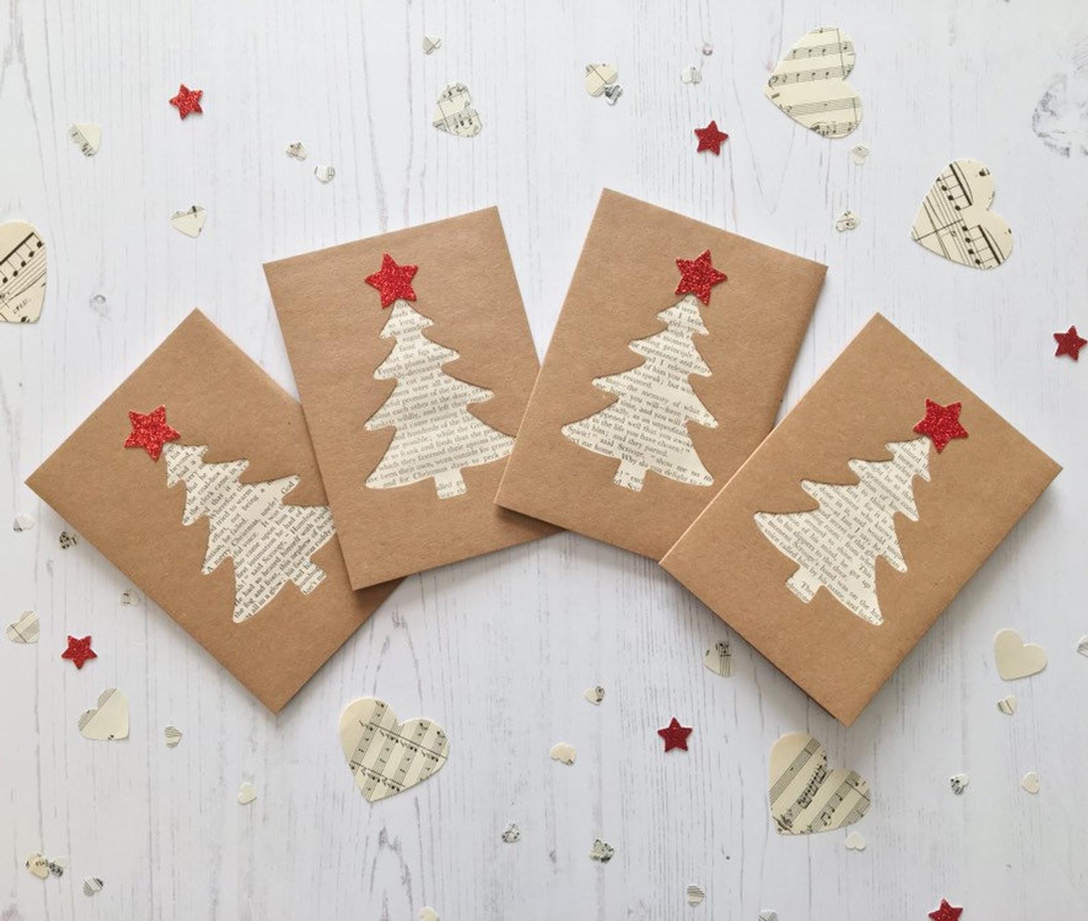 Christmas Carol Christmas Tree Cards