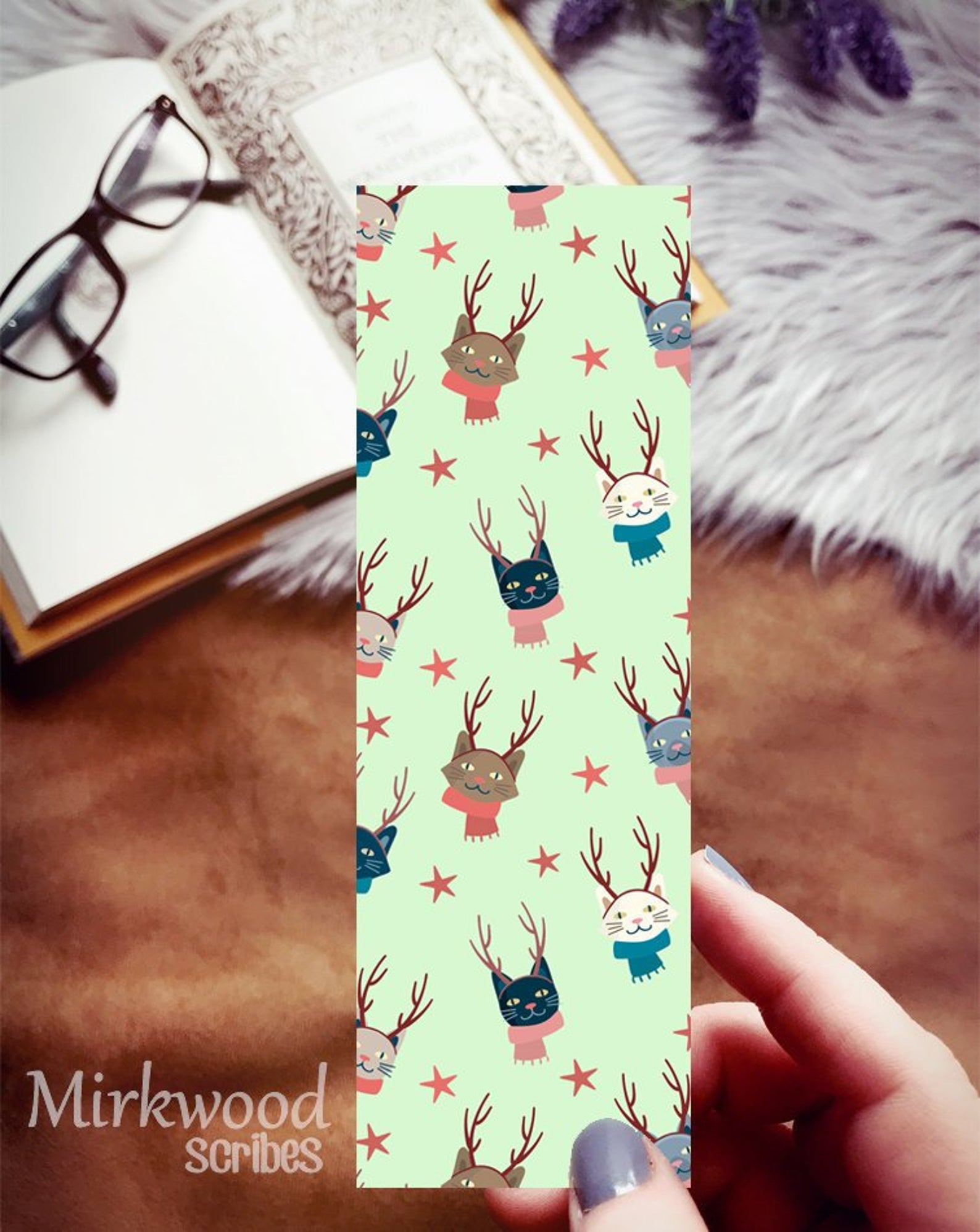 Christmas Cats Bookmark