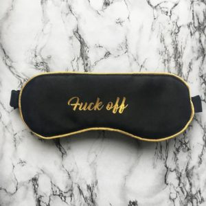 fuck off sleep mask gifts for bookworms holiday reading