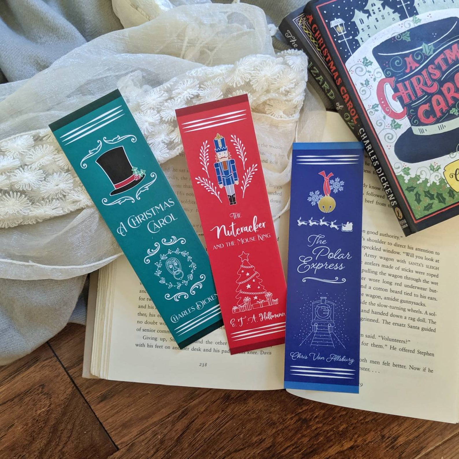 Holiday Classics Book Spine Bookmarks