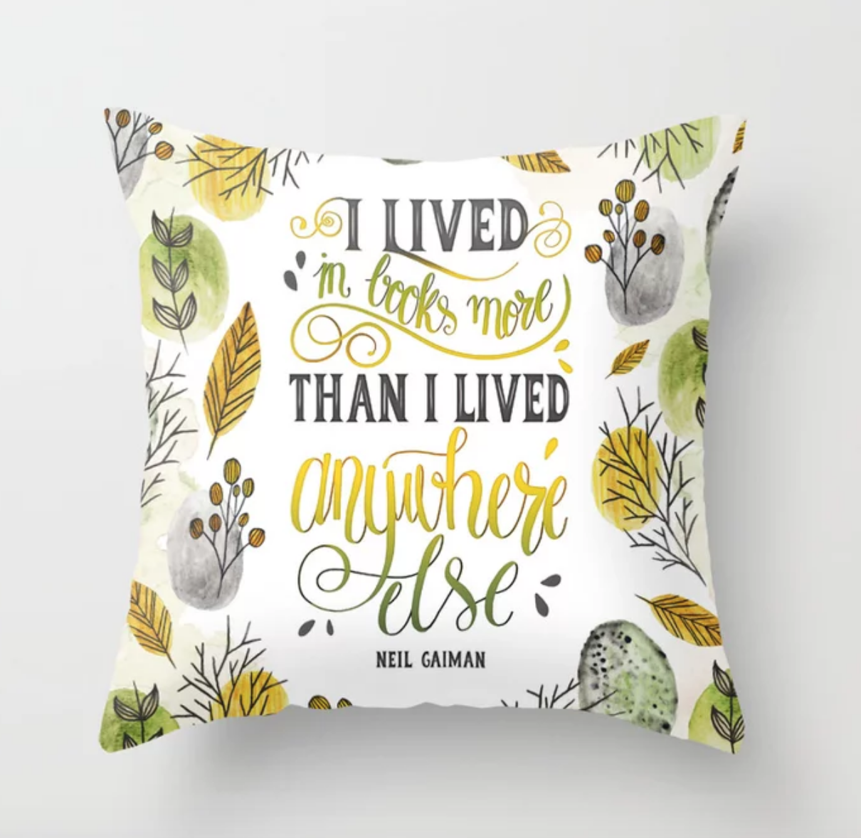 I Lived in Books Pillow