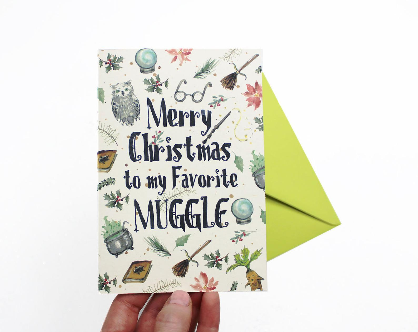 Merry Christmas to My Favorite Muggle card