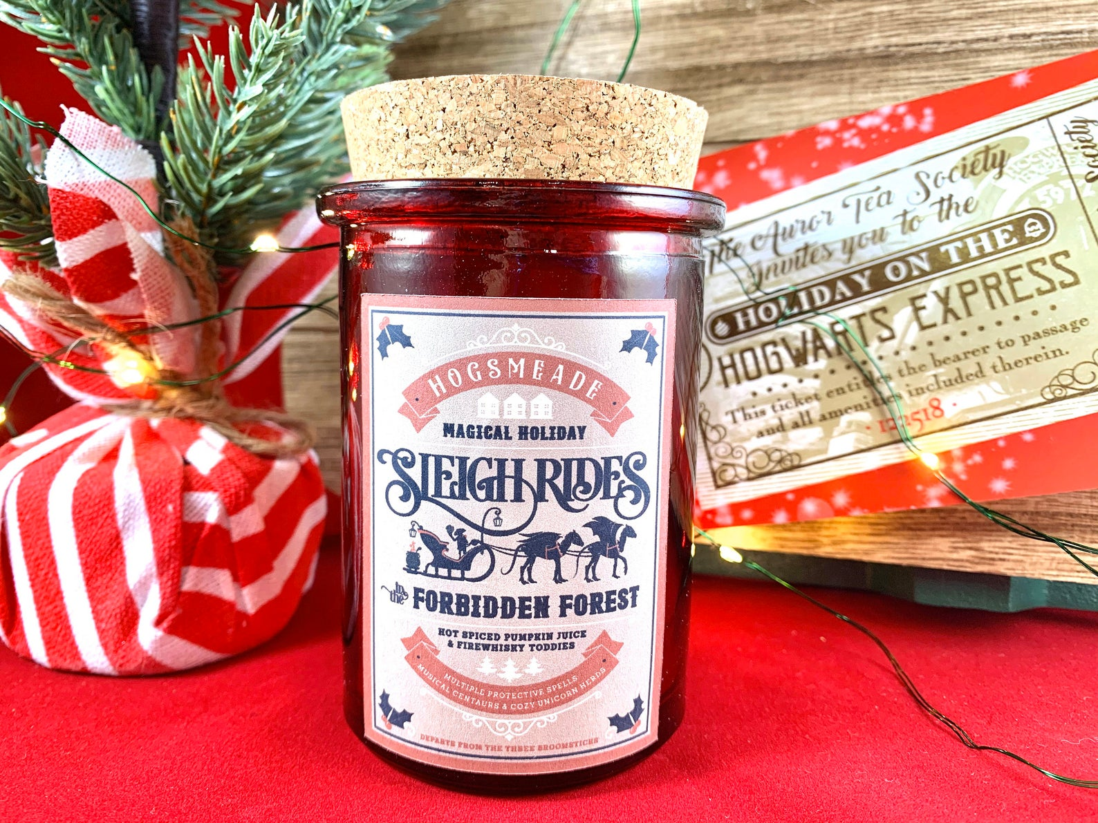 Sleigh Ride through the Forbidden Forest Candle