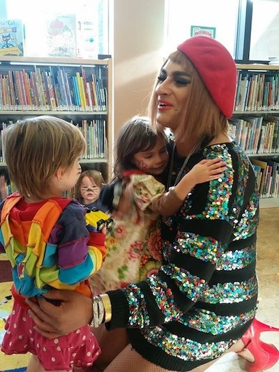 San Francisco Drag Queen Storytime, photo used with permission from Bix Warden of San Francisco Public Library