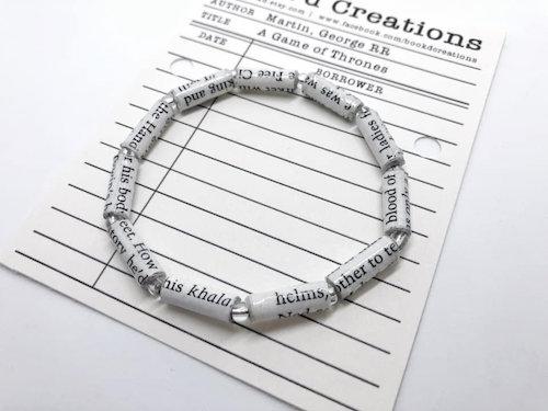 custom beaded book bracelet