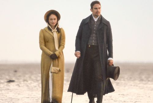 Theo James as Sidney Parker and Rose Williams as Charlotte Heywood in Sanditon, image from IMDb