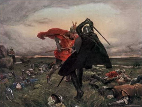 Battle Between King Arthur and Sir Mordred by William Hatherell, https://commons.wikimedia.org/wiki/File:Battle_Between_King_Arthur_and_Sir_Mordred_-_William_Hatherell.jpg