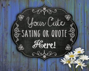 Chalkboard Sign Book Quote