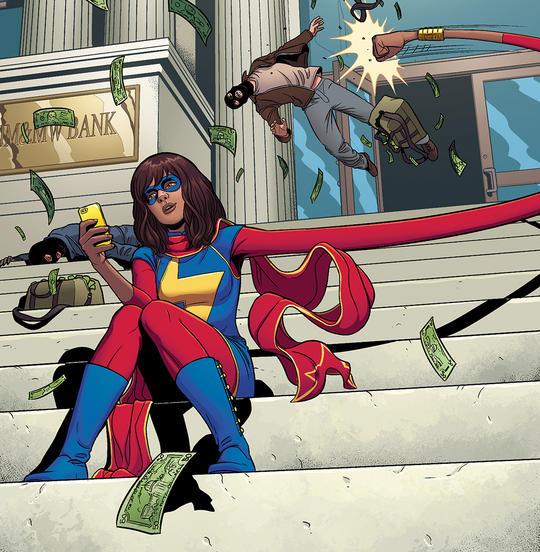 Ms. Marvel comic panel